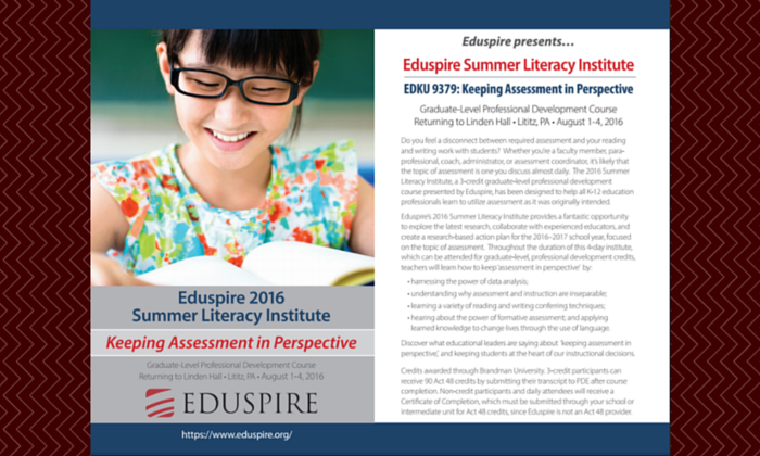Eduspire Summer Literacy Institute